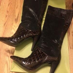 Gianni bini tall brown boots leather 7 worn once